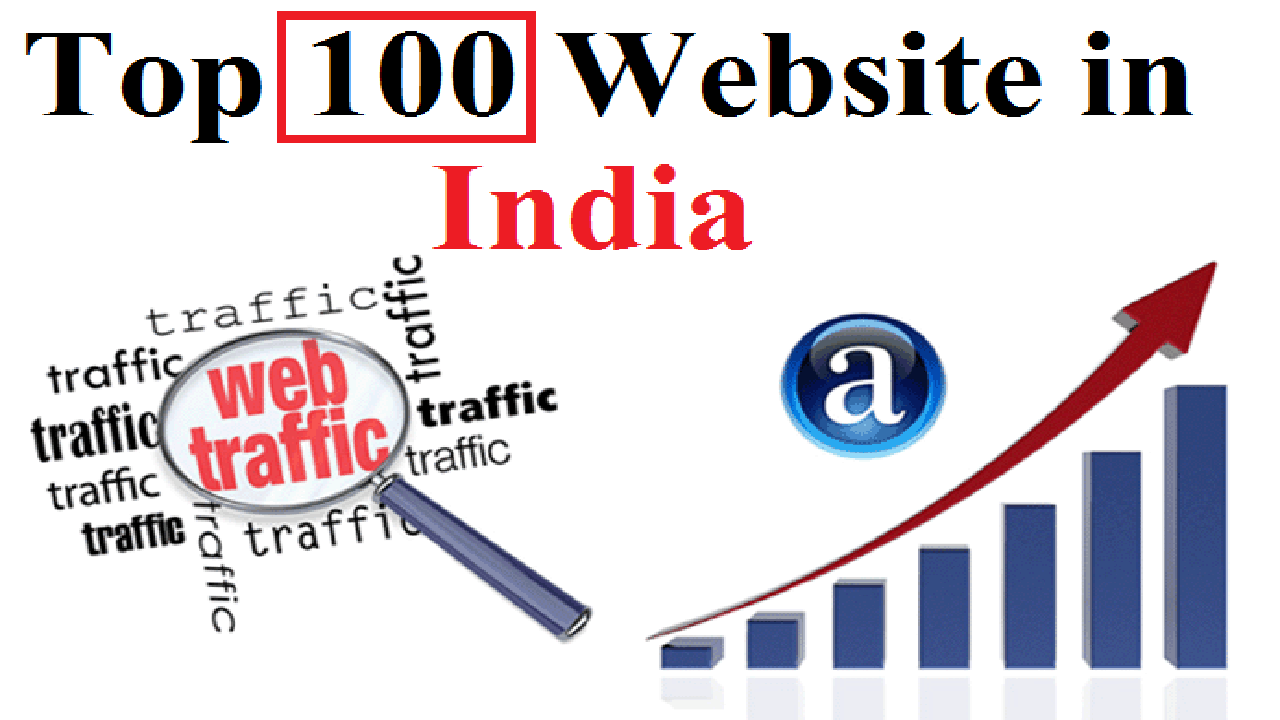 top 100 website in india